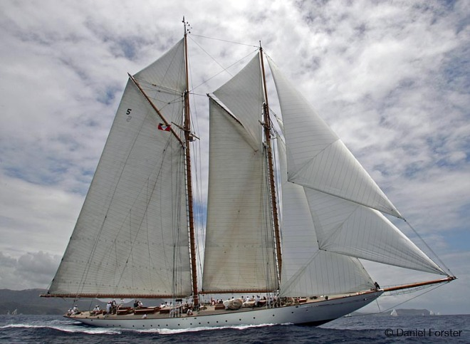 ELEONORA, 136 ft Nat Herreshoff Gaff  Schooner,  2000 Antigua Classic Yacht Regatta 2006 © Daniel Forster